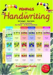 Cover of: Penpals for Handwriting Evaluation Booklet (Penpals for Handwriting) | Gill Budgell