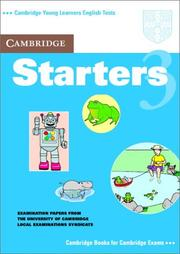 Cover of: Cambridge Starters 3 Student's Book