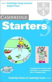Cover of: Cambridge Starters 3 Audio Cassette | University of Cambridge Local Examinations Syndicate