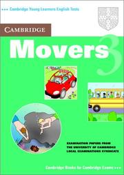 Cover of: Cambridge Movers 3 Student's Book