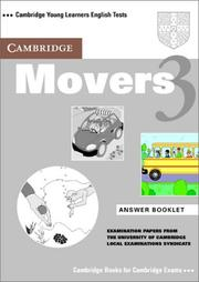 Cover of: Cambridge Movers 3 Answer Booklet