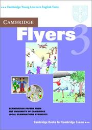 Cover of: Cambridge Flyers 3 Student's Book