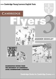 Cover of: Cambridge Flyers 3 Answer Booklet