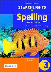 Cover of: Searchlights for Spelling Year 3 CD-ROM | Chris Buckton
