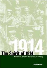 "Cover of: The ""spirit of 1914"""