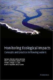 Cover of: Monitoring ecological impacts