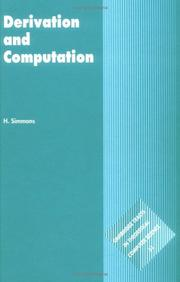 Cover of: Derivation and computation