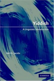 Cover of: Yiddish | Neil G. Jacobs