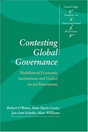 Contesting Global Governance