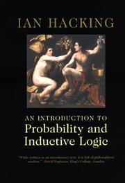 Cover of: An Introduction to Probability and Inductive Logic