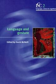 Cover of: Language and gesture |
