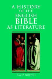 Cover of: A history of the English Bible as literature | David Norton