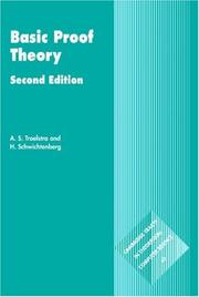 Cover of: Basic proof theory