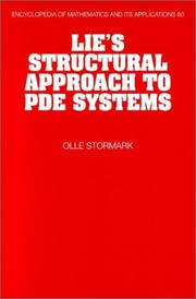 Cover of: Lie's structural approach to PDE systems