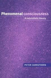 Cover of: Phenomenal Consciousness