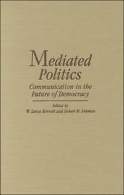 Cover of: Mediated Politics |