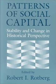 Cover of: Patterns of Social Capital