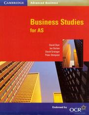 Cover of: Business Studies for AS (Cambridge Advanced Business) | David Dyer