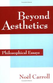 Cover of: Beyond Aesthetics | NoГ«l Carroll