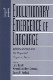 Cover of: The Evolutionary Emergence of Language |