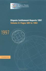 Cover of: Dispute Settlement Reports 1997 (World Trade Organization Dispute Settlement Reports) | World Trade Organization