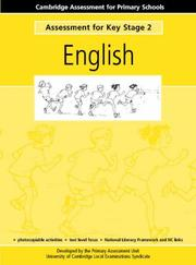 Cover of: Assessment for Key Stage 2 English