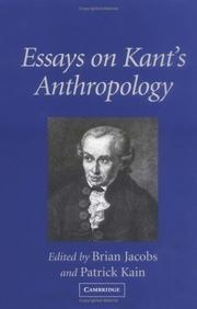 Cover of: Essays on Kant