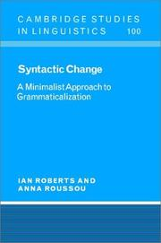 Cover of: Syntactic change