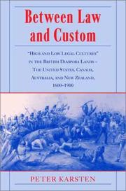 Cover of: Between law and custom