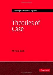 Cover of: Theories of Case (Cambridge Textbooks in Linguistics) | Miriam Butt