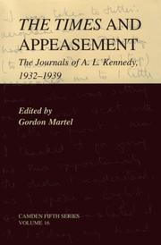 Cover of: The times and appeasement | Aubrey Leo Kennedy