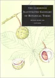 Cover of: The Cambridge illustrated glossary of botanical terms