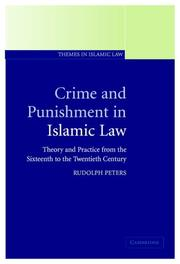 Cover of: Crime and punishment in Islamic law