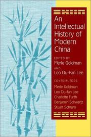 Cover of: An Intellectual History of Modern China |