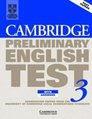Cover of: Cambridge Preliminary English Test 3 Student's Book with answers