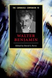 Cover of: The Cambridge Companion to Walter Benjamin