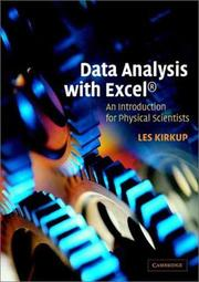 Cover of: Data Analysis with Excel® | Les Kirkup