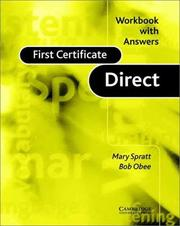 Cover of: First Certificate Direct Workbook with Answers (First Certificate Direct) | Mary Spratt