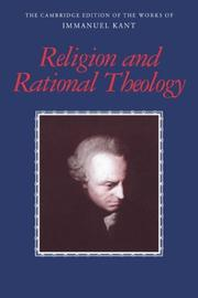 Cover of: Religion and Rational Theology | Immanuel Kant