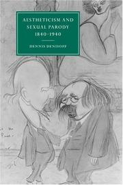 Cover of: Aestheticism and sexual parody, 1840-1940