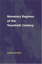 Cover of: Monetary Regimes of the Twentieth Century