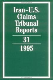 Cover of: Iran-U.S. Claims Tribunal Reports | Edward Helgeson