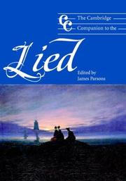 Cover of: The Cambridge Companion to the Lied
