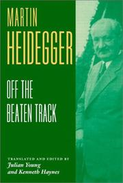 Cover of: Heidegger: Off the Beaten Track