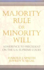 Cover of: Majority rule or minority will