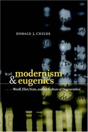 Cover of: Modernism and eugenics