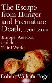 Cover of: The Escape from Hunger and Premature Death, 17002100