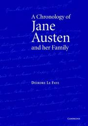 Cover of: A Chronology of Jane Austen and her Family