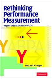 Cover of: Rethinking Performance Measurement | Marshall W. Meyer