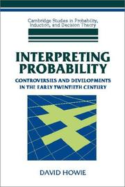 Cover of: Interpreting Probability | David Howie